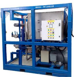 Hot oil flushing unit